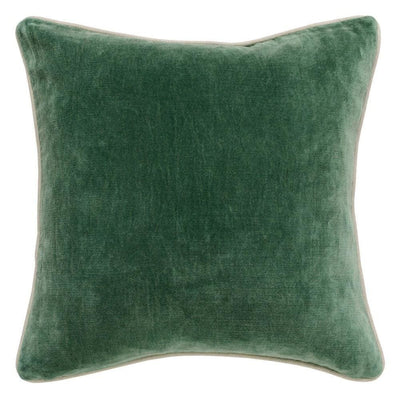 "18 X 18"" Throw Pillow with Piped Edges, Green By Casagear Home"