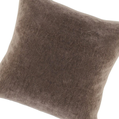 18 X 18 Throw Pillow with Piped Edges Taupe Brown By Casagear Home BM228807
