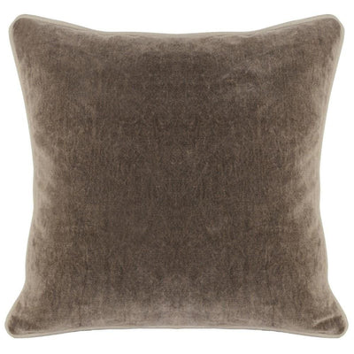 "18 X 18"" Throw Pillow with Piped Edges, Taupe Brown By Casagear Home"