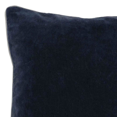 18 X 18 Fabric Throw Pillow with Piped Edges Navy Blue By Casagear Home BM228816