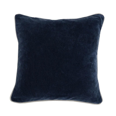 "18 X 18"" Fabric Throw Pillow with Piped Edges, Navy Blue By Casagear Home"