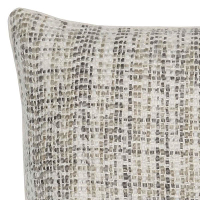 22 x 22 Hand Woven Throw Pillow White & Gray By Casagear Home BM228826