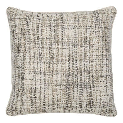 "22 x 22"" Hand Woven Throw Pillow, White & Gray By Casagear Home"