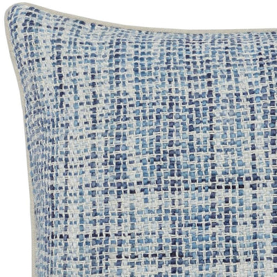 22 x 22 Hand Woven Throw Pillow Blue and White By Casagear Home BM228840