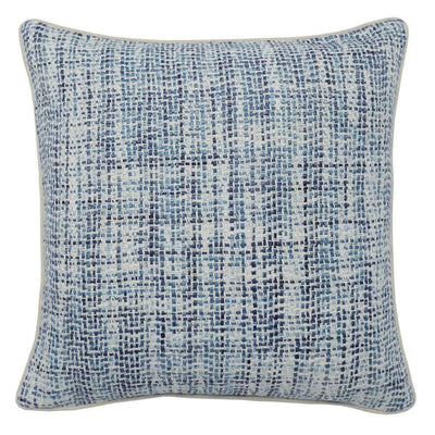 "22 x 22"" Hand Woven Throw Pillow, Blue and White By Casagear Home"