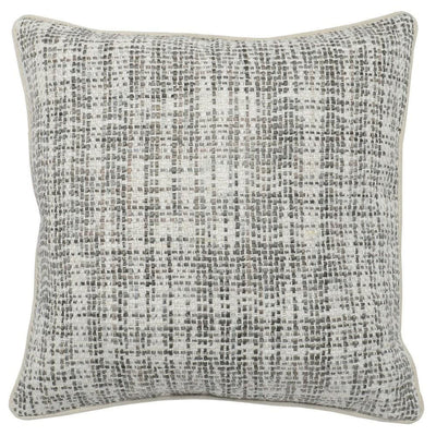 "22 x 22"" Hand Woven Throw Pillow, Gray & White By Casagear Home"