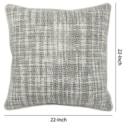 22 x 22 Hand Woven Throw Pillow Gray & White By Casagear Home BM228841