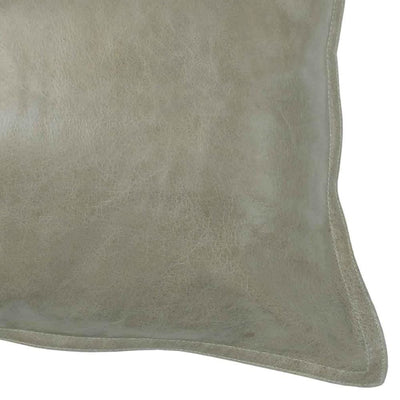 Leatherette Throw Pillow with Stitched Details Beige By Casagear Home BM228845