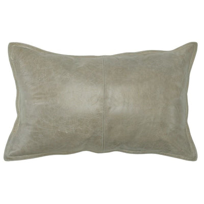 Leatherette Throw Pillow with Stitched Details, Beige By Casagear Home
