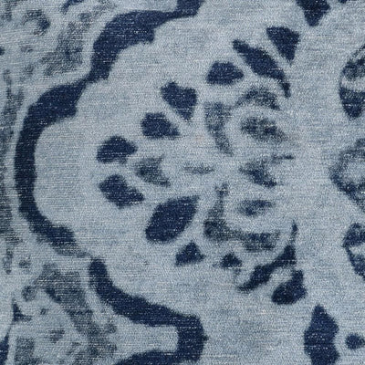 20 x 20 Throw Pillow with Damask Pattern Gray & Blue By Casagear Home BM228849