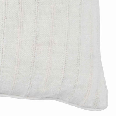 22 x 22 Stripe Pattern Textured Fabric Throw Pillow,Off White By Casagear Home BM228899