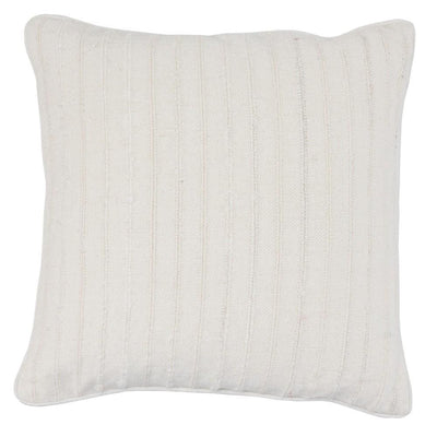 "22 x 22"" Stripe Pattern Textured Fabric Throw Pillow,Off White By Casagear Home"
