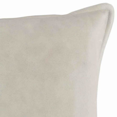 26 x 14 Hand Stitched Leatherette Throw Pillow Gray By Casagear Home BM228901