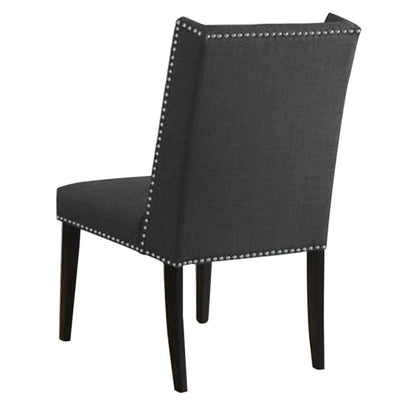 39.5 Tufted Wingback Dining Chair Set of 2 Dark Gray By Casagear Home BM229097