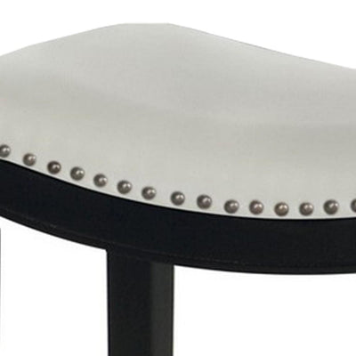 24 Wooden Counter Height Stool Set of 2 Black and White by Casagear Home BM229252