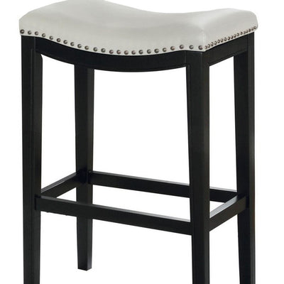 29 Wooden Bar Height Stool Set of 2 Black and White by Casagear Home BM229254