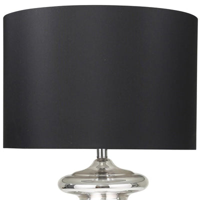 31 Urn Glass Table Lamp with Drum Shade Silver & Black By Casagear Home BM229517