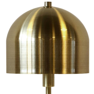 59 Metal Mushroom Floor Lamp with Round Base Gold By Casagear Home BM229535