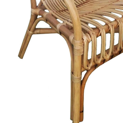 Handcrafted Rattan Frame Arm Chair Natural Brown By Casagear Home BM229711