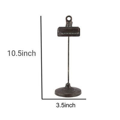 Tubular Metal Frame Stand with Clip Small Black By Casagear Home BM229717