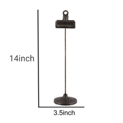 Tubular Metal Frame Stand with Clip Large Black By Casagear Home BM229718