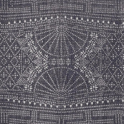 2.5 x 8 Feet Cotton Rug with Batik Print and Fringes Blue and White By Casagear Home BM229769
