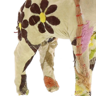 8 Inches Fabric Wrapped Stag Figurine Multicolor By Casagear Home BM229773