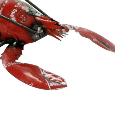 3 Reclaimed Metal Lobster Accent Decor Red and Black By Casagear Home BM229801
