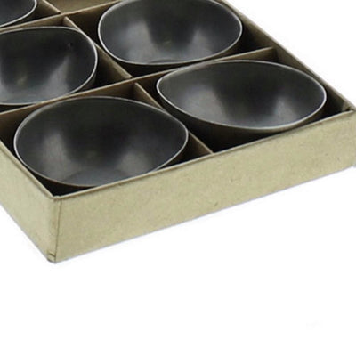 Metal Tealight Holder with Box Set of 6 Gray By Casagear Home BM229822
