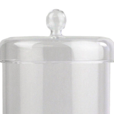 5 Contemporary Glass Storage Utility Jar with Lid Clear By Casagear Home BM229835