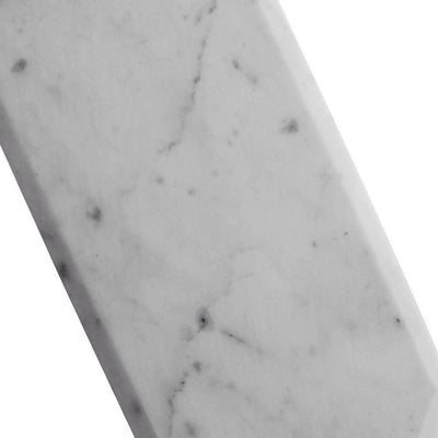 14 X 7 Marble Cheese Board with Beveled Edges White by Casagear Home BM229880