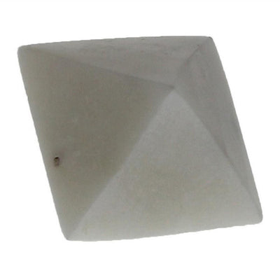 "1.62"" Octahedron Shape Geometric Marble Object, White by Casagear Home"