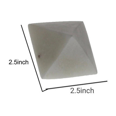 1.62 Octahedron Shape Geometric Marble Object White by Casagear Home BM229884