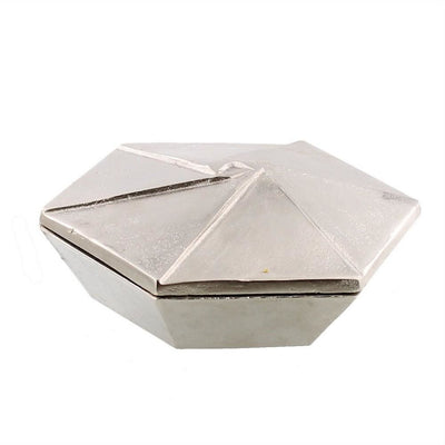 6.5'' Metal Hexagonal Shaped Box with Lid, Small, Silver By Casagear Home