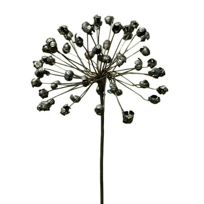 "29"" Galvanized Cast Iron Agapanthus Flower Stake, Black by Casagear Home"