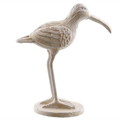 "6"" Cast Iron Sandpiper Accent Decor, Off White by Casagear Home"