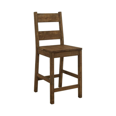 "24.5"" Ladder Back Counter Height Chair,Set of 2,Brown By Casagear Home"