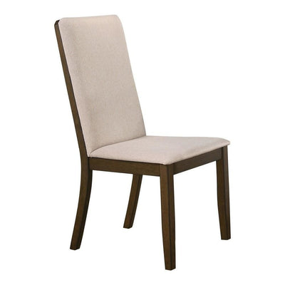 "39"" Fabric Dining Chair with Wooden Backing,Set of 2,Beige By Casagear Home"