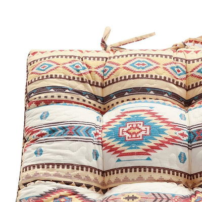 Tisa Traditional Ikat Pattern Fabric Chair Pad Multicolor By Casagear Home BM231024