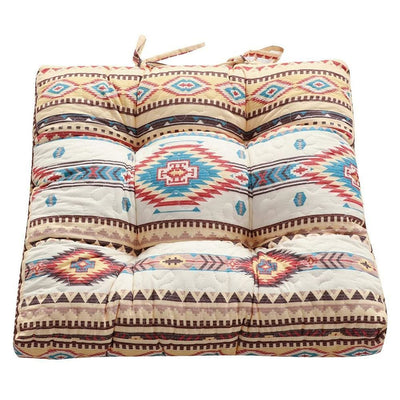 Tisa Traditional Ikat Pattern Fabric Chair Pad, Multicolor By Casagear Home