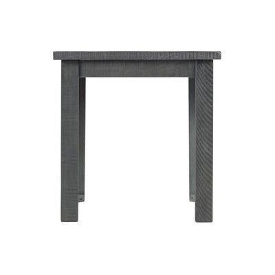 23 Farmhouse Wooden End Table Gray by Casagear Home BM231144