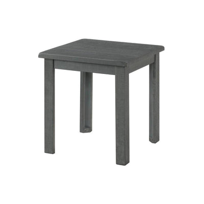 "23"" Farmhouse Wooden End Table, Gray by Casagear Home"
