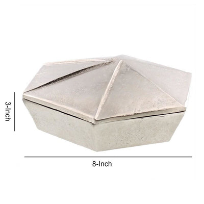 8 Origami Shaped Inspired Storage Box Silver By Casagear Home BM231191