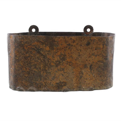 "14"" Reclaimed Metal Frame Wall Planter, Rustic Bronze By Casagear Home"