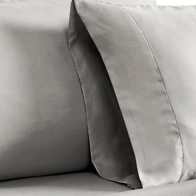 Tulsa 1200 Thread Count Tri Blend 6 Piece Queen Sheet Set Light Gray By Casagear Home BM231566