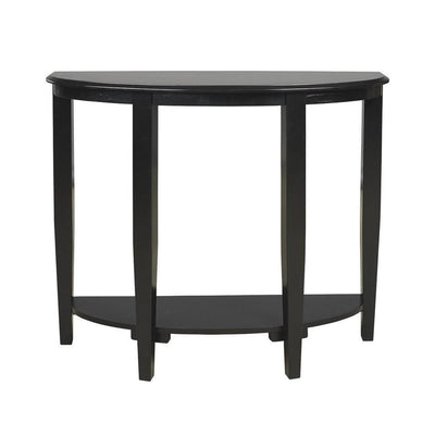 Half Moon Shaped Wooden Console Sofa Table, Black By Casagear Home