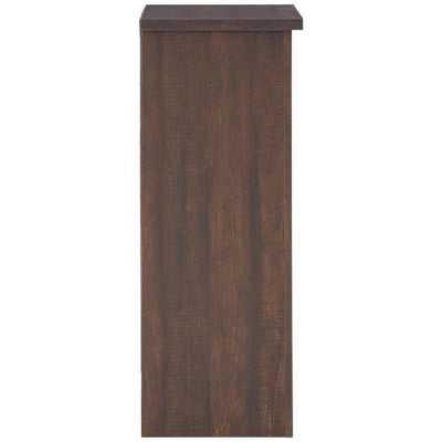 Wooden Wine Cabinet with X Shaped Wine Rack Dark Brown By Casagear Home BM231920
