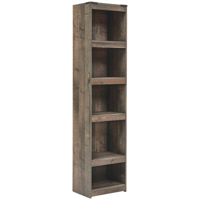 72 Inches 5 Compartment Wooden Pier with Metal Brackets, Brown By Casagear Home