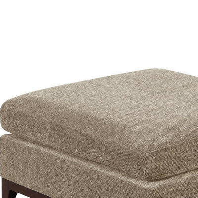 Fabric Cocktail Ottoman with Chamfered Feet Gray By Casagear Home BM231981