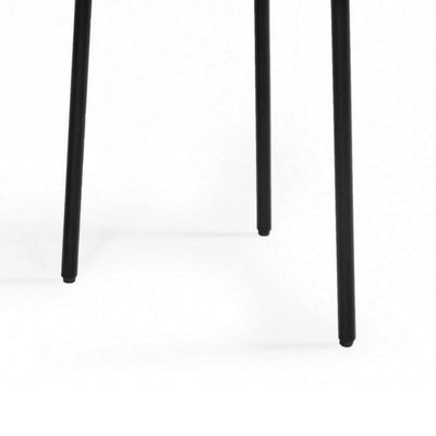 Wooden Top End Table with Metal Legs Brown and Black By Casagear Home BM232175